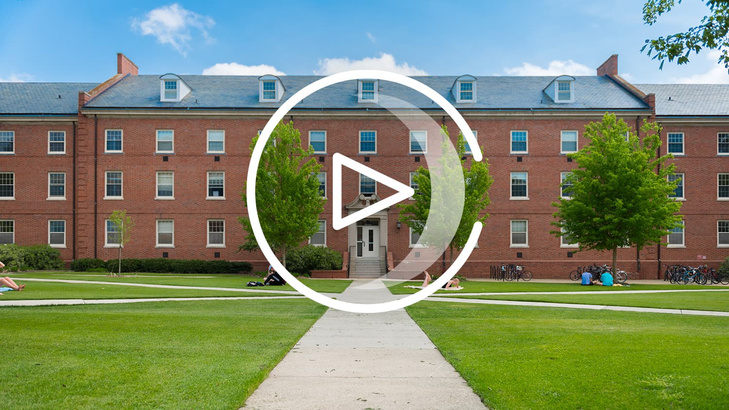 Residence hall on campus